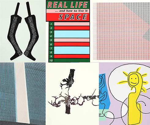 """Claire Barclay """"Untitled"""" Christine Borland, """"Untitled"""" John Mackechnie, """"Monument"""" Ross Sinclair, """"Real Life and How to Live it"""" Adrian Wiszniewski, Daisys in Space Richard Wright, Untitled"""